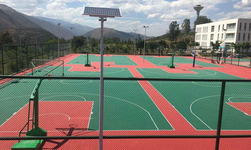 云南科贝承建运动跑道、篮球场升级改建工程