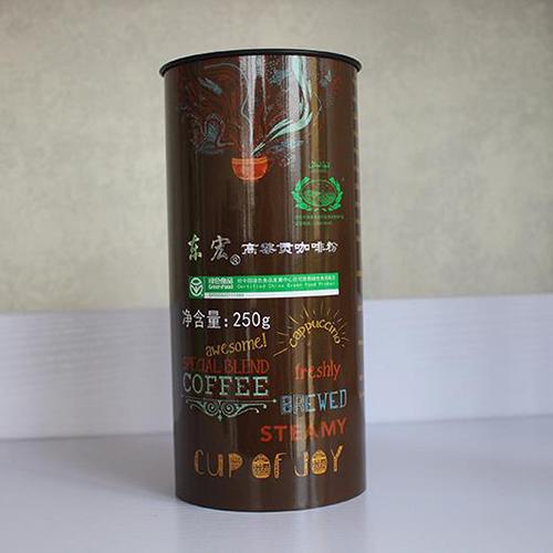 东宏牌焙炒咖啡粉250g/罐    70元